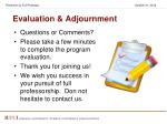 evaluation adjournment