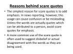 reasons behind scare quotes