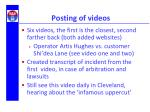 posting of videos