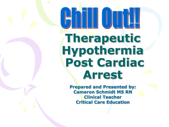 therapeutic hypothermia post cardiac arrest n.