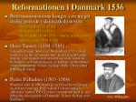 reformationen i danmark 1536