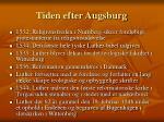 tiden efter augsburg