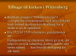 tilbage til kirken i wittenberg