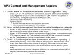 wp3 control and management aspects