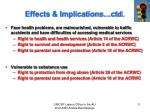 effects implications ctd