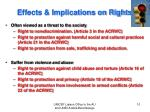 effects implications on rights