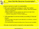 how did we become sustainable3