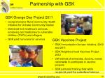 partnership with gsk
