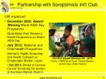 partnership with soroptimists int l club