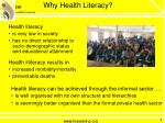 why health literacy