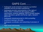 gaps cont