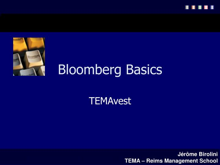 bloomberg basics n.
