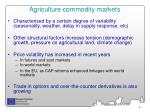 agriculture commodity markets