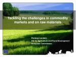 tackling the challenges in commodity markets and on raw materials
