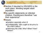 infected children