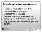 essential elements of a good proposal 1