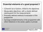essential elements of a good proposal 2
