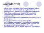 nabi 1642 1712