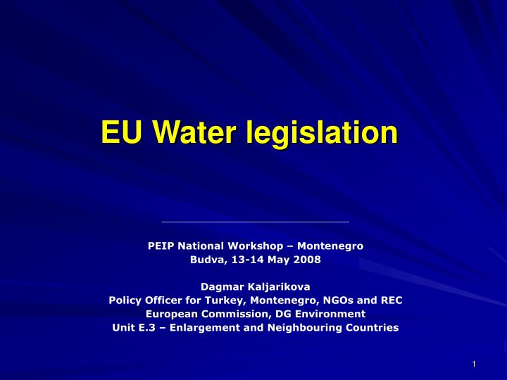 eu water legislation n.