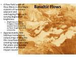 basaltic flows