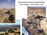 extensional fracturing faulting earth analog cedar mesa utah
