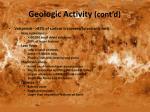 geologic activity cont d1