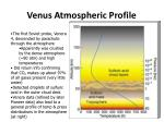venus atmospheric profile
