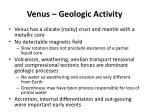 venus geologic activity