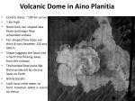 volcanic dome in aino planitia