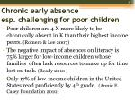 chronic early absence esp challenging for poor children