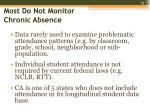 most do not monitor chronic absence1