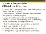 schools communities can make a difference