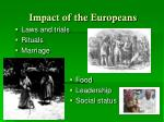 impact of the europeans