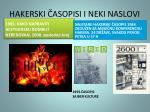 hakerski asopisi i neki naslovi