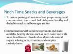 pinch time snacks and beverages