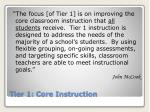 tier 1 core instruction