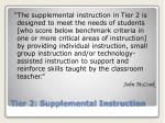 tier 2 supplemental instruction