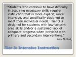 tier 3 intensive instruction