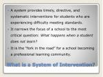 what is a system of intervention