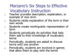 marzano s six steps to effective vocabulary instruction