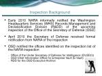 inspection background