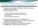 washington headquarters services whs office of the secretary of defense osd records administrator