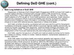 defining dod ghe cont1