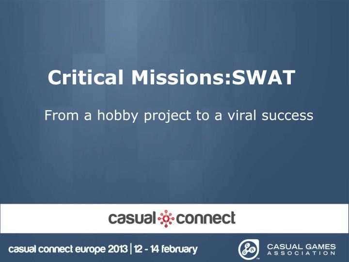 critical missions swat n.