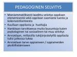 pedagoginen selvitys