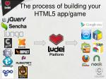 the process of building your html5 app game