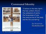 communal identity
