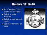 matthew 28 16 201
