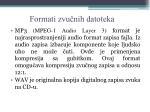 formati zvu nih datoteka