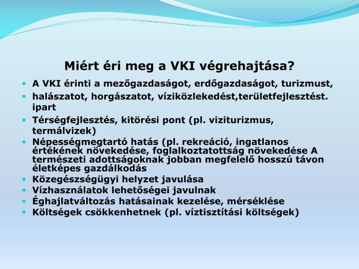 Miért éri meg a VKI végrehajtása?